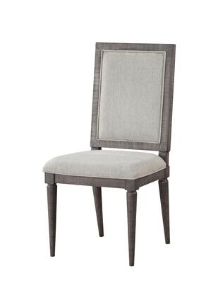 BM196680 Fabric Upholstered Wooden Side Chair with Cushioned Seating and Tapered Legs  Set of 2