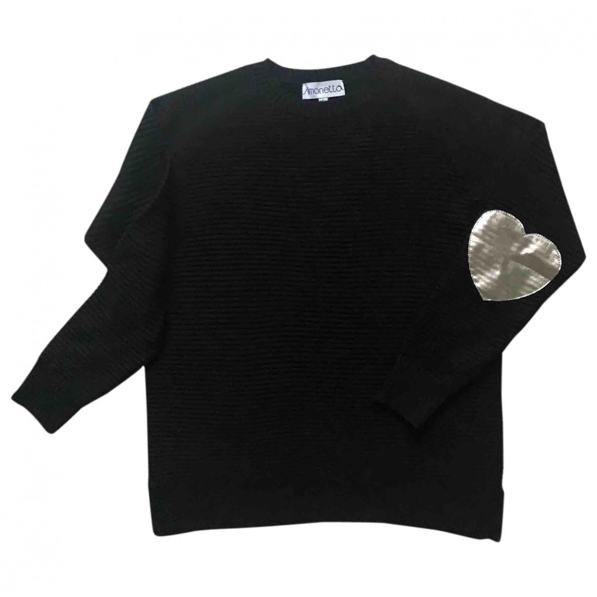 Simonetta \N Pullover, StrickJacke in  Schwarz Wolle