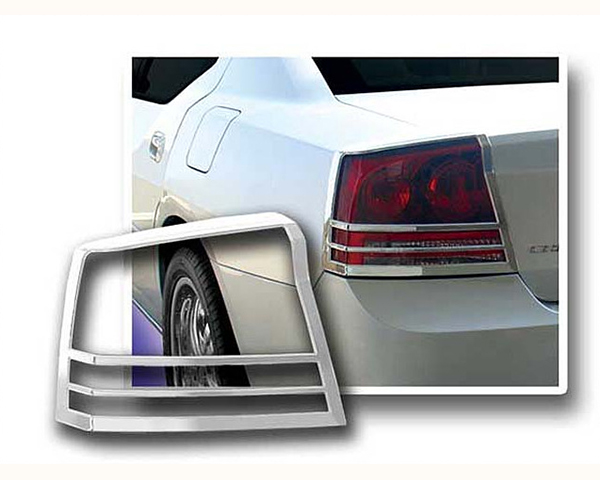 Quality Automotive Accessories ABS Plastic with Chrome Overlay 2-Piece Tail Light Bezel Dodge Charger 2009