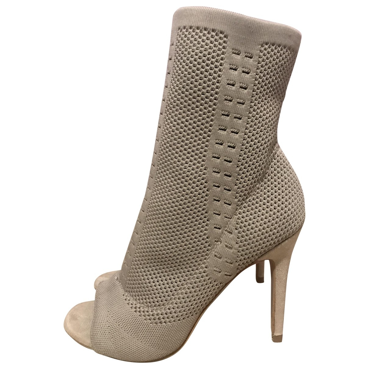 Non Signé / Unsigned \N Beige Cloth Heels for Women 40 EU