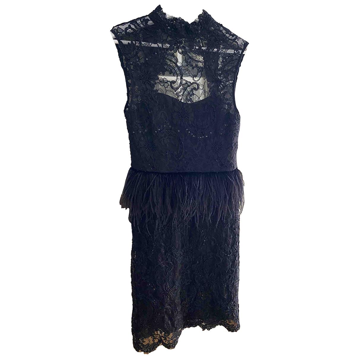 Alice & Olivia \N Black Glitter dress for Women 2 US