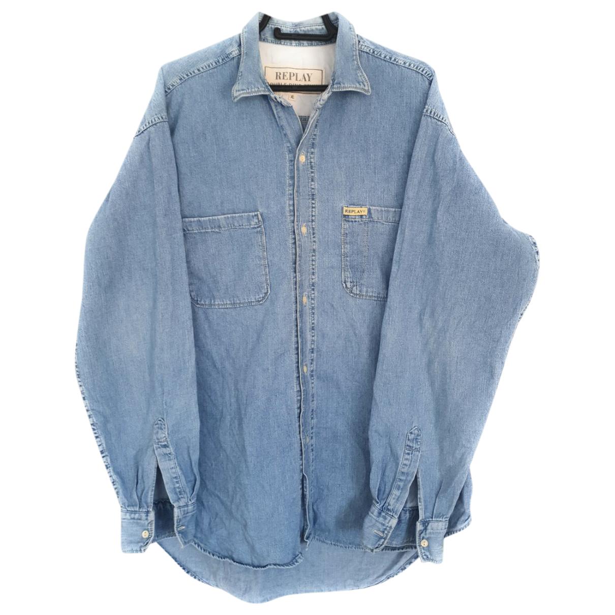 Replay \N Blue Denim - Jeans Shirts for Men XL International