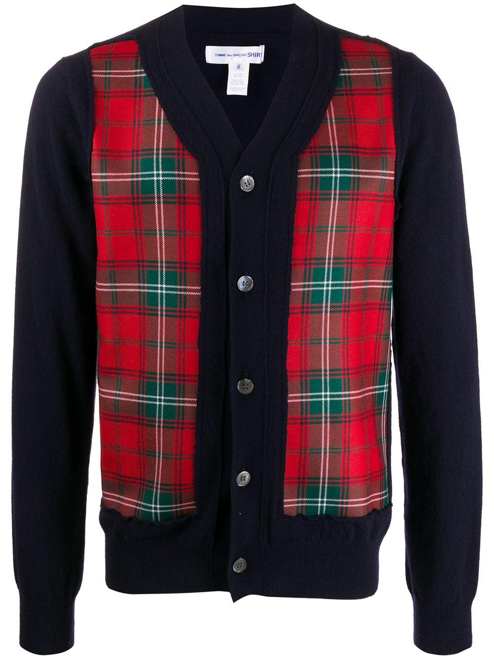 Wool Tartan Wool Cardigan