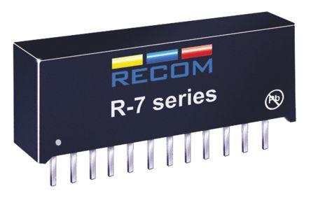 Recom Through Hole Switching Regulator, 5 → 7.5V dc Output Voltage, 8.5 → 28V dc Input Voltage, 5.5A