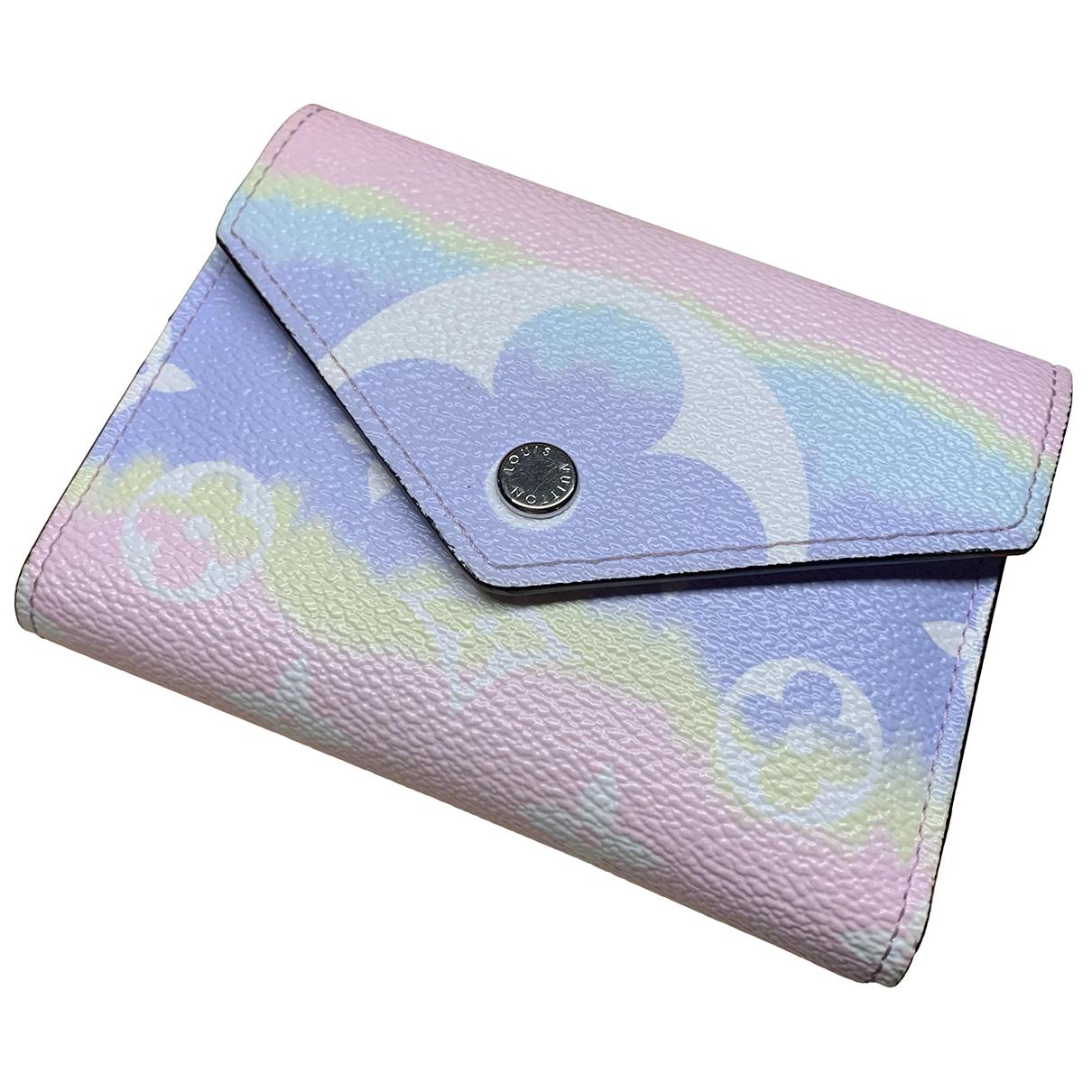 Louis Vuitton - Portefeuille Victorine pour femme en toile - multicolore