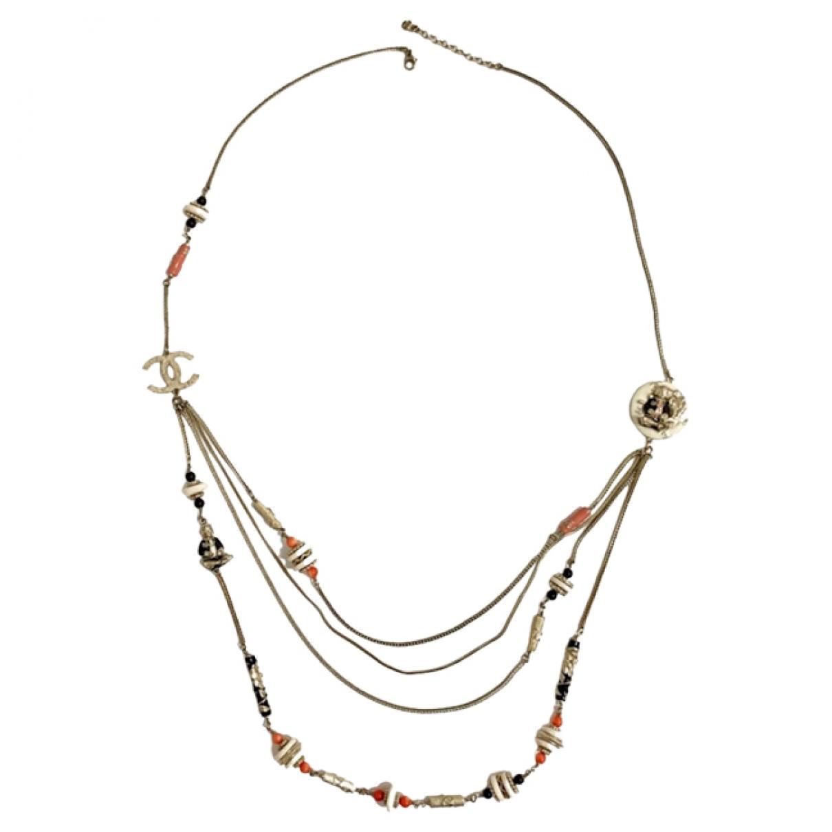 Chanel \N Halskette in  Beige Metall
