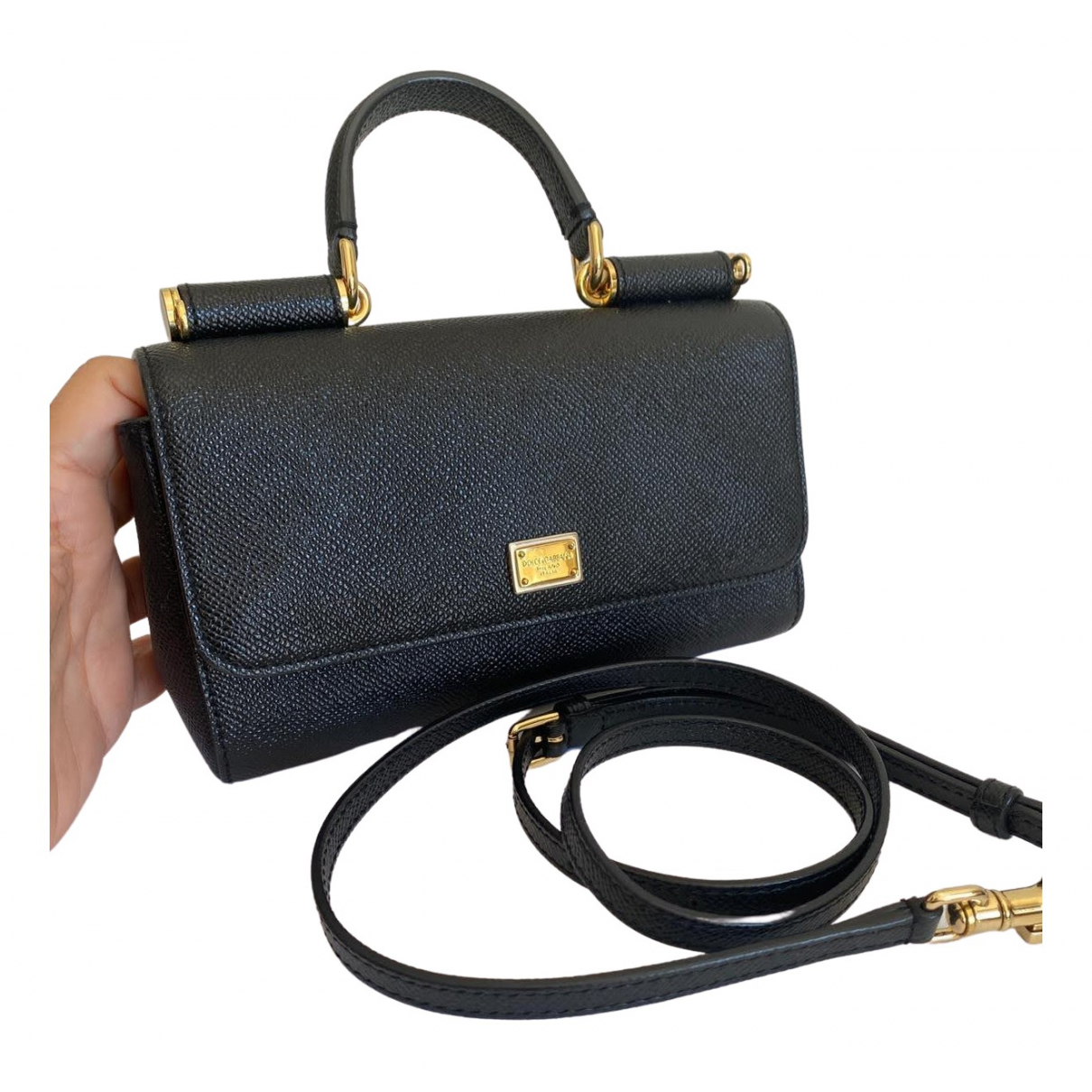 Dolce & Gabbana Sicily Black Leather Clutch bag for Women \N