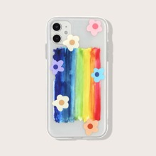 Colorful Stripe & Flower iPhone Case