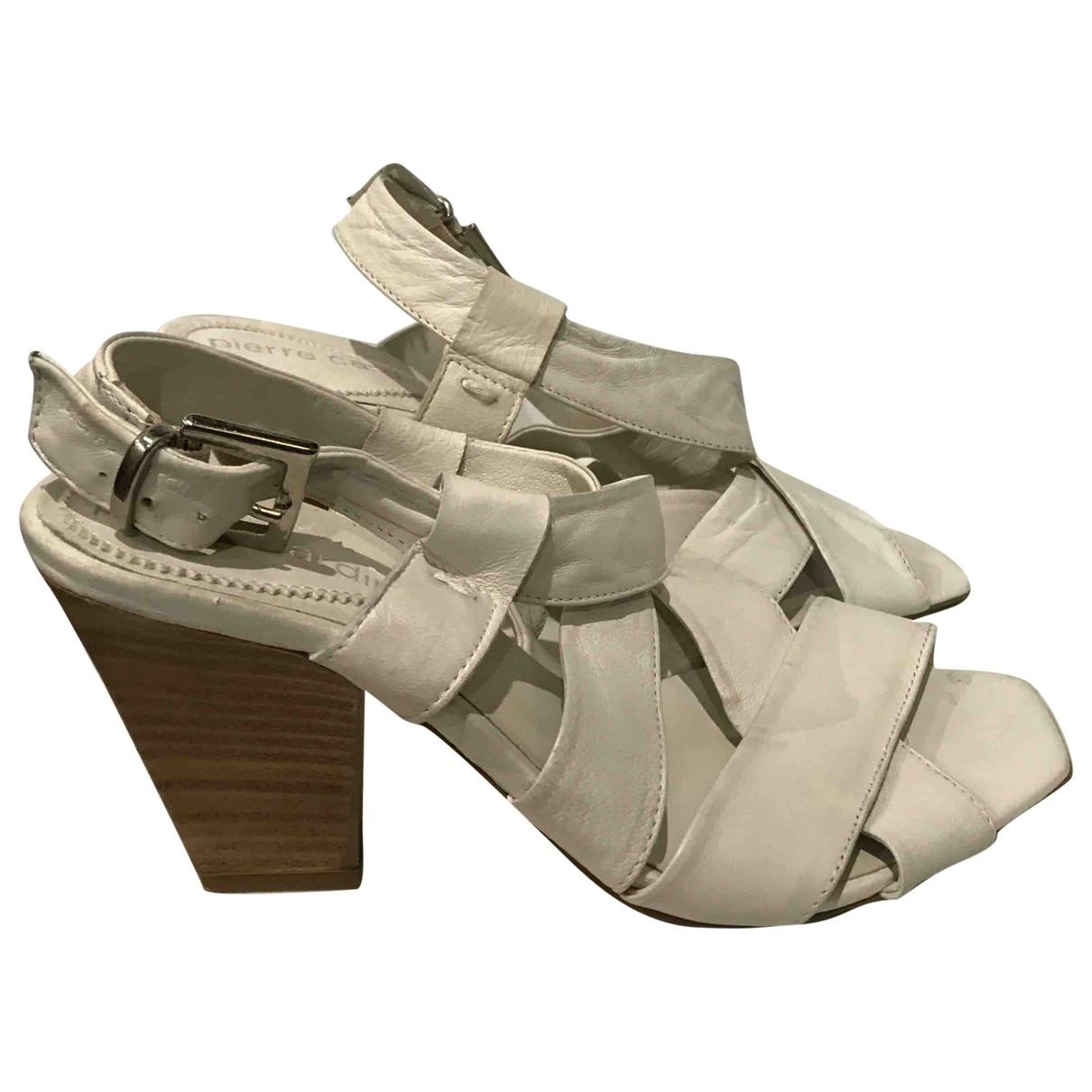 Pierre Cardin - Sandales   pour femme en cuir - beige
