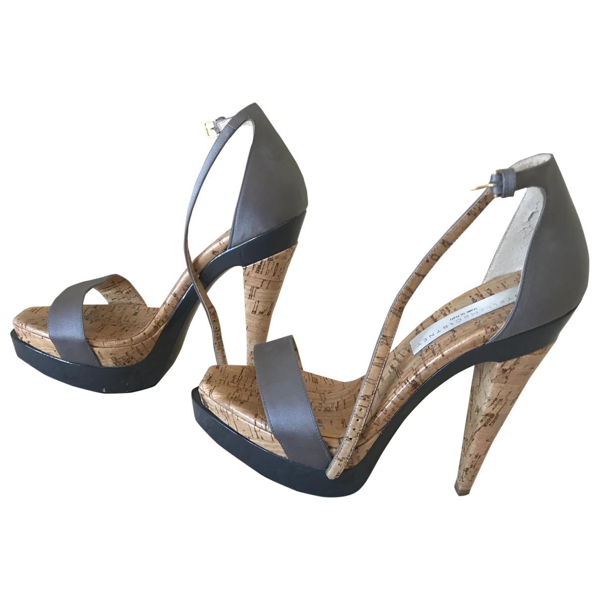 Stella Mccartney \N Silver Rubber Sandals for Women 37 EU