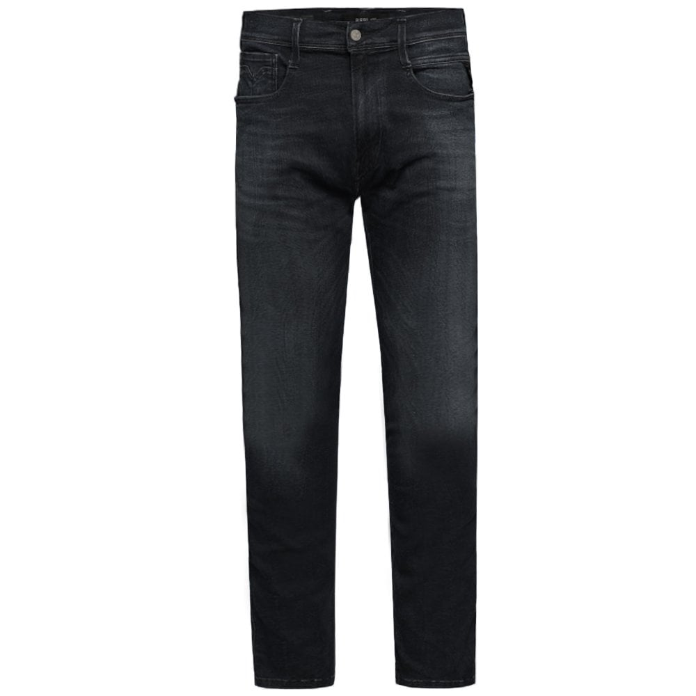 Replay Hyperflex Clouds Jeans Black Colour: BLACK, Size: 34 30