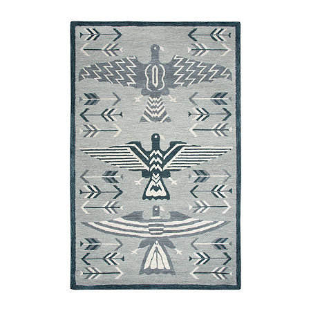Rizzy Home Mesa Collection Elyson Hand-Tufted Various Area Rug, One Size , Gray