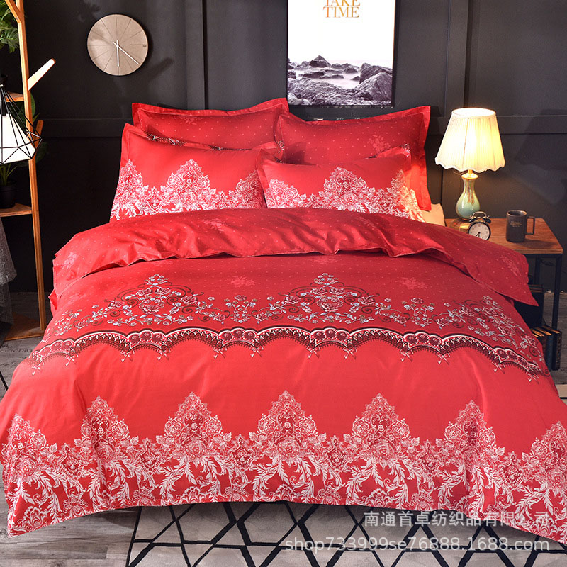 Elegant Simple Style 3Piece Bedding Sets Zipper Duvet Cover with 2 Pillowcases for Bedroom