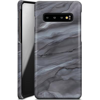 Samsung Galaxy S10 Smartphone Huelle - Black Watercolour Marble von Becky Starsmore