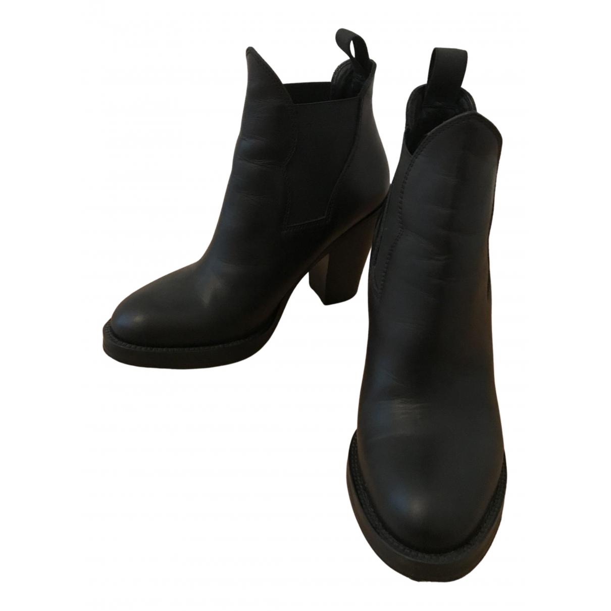 Acne Studios - Boots Star pour femme en cuir - noir