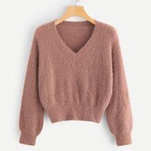 Reiner Pullover mit V Ausschnitt