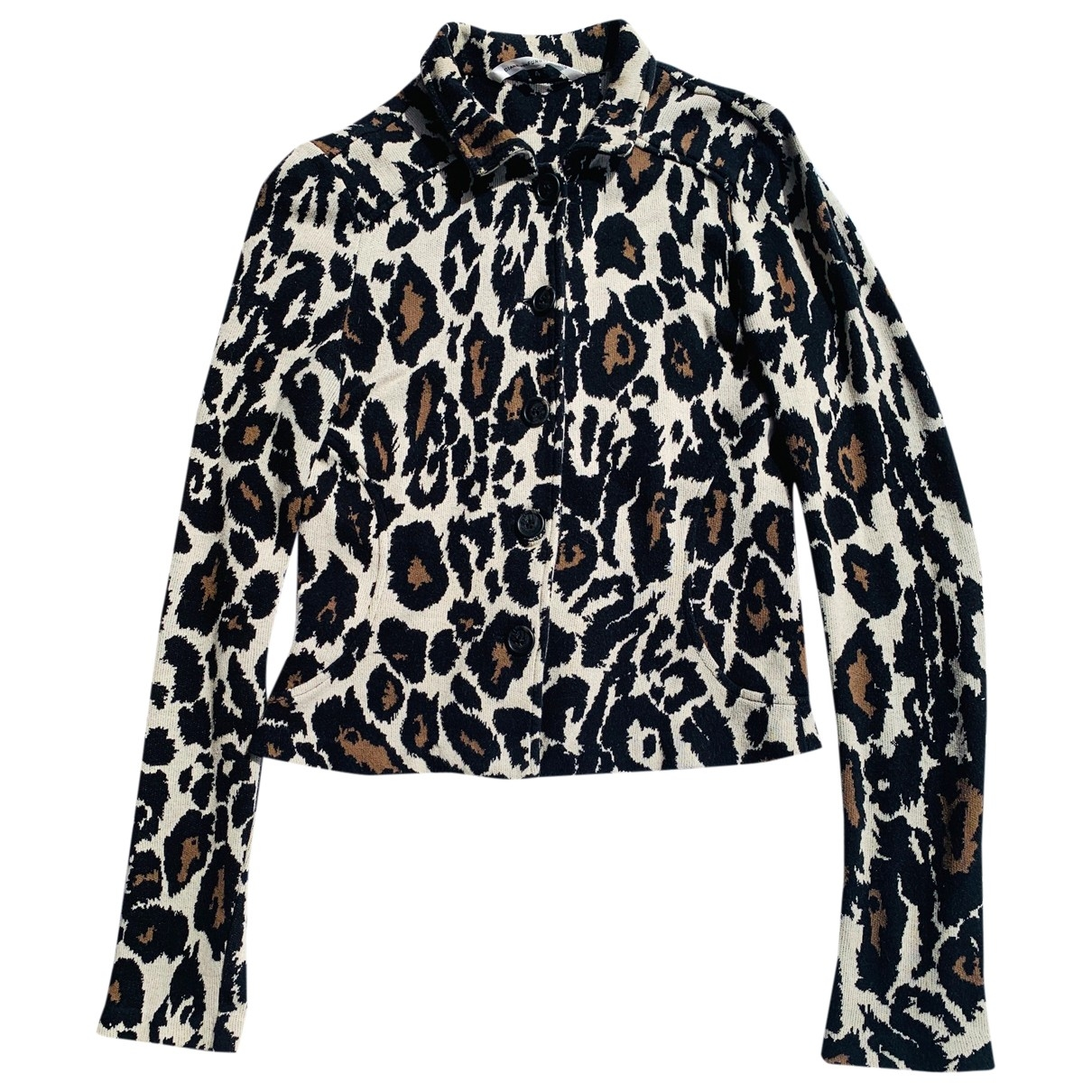 Diane Von Furstenberg \N Brown Cotton jacket for Women 4 US