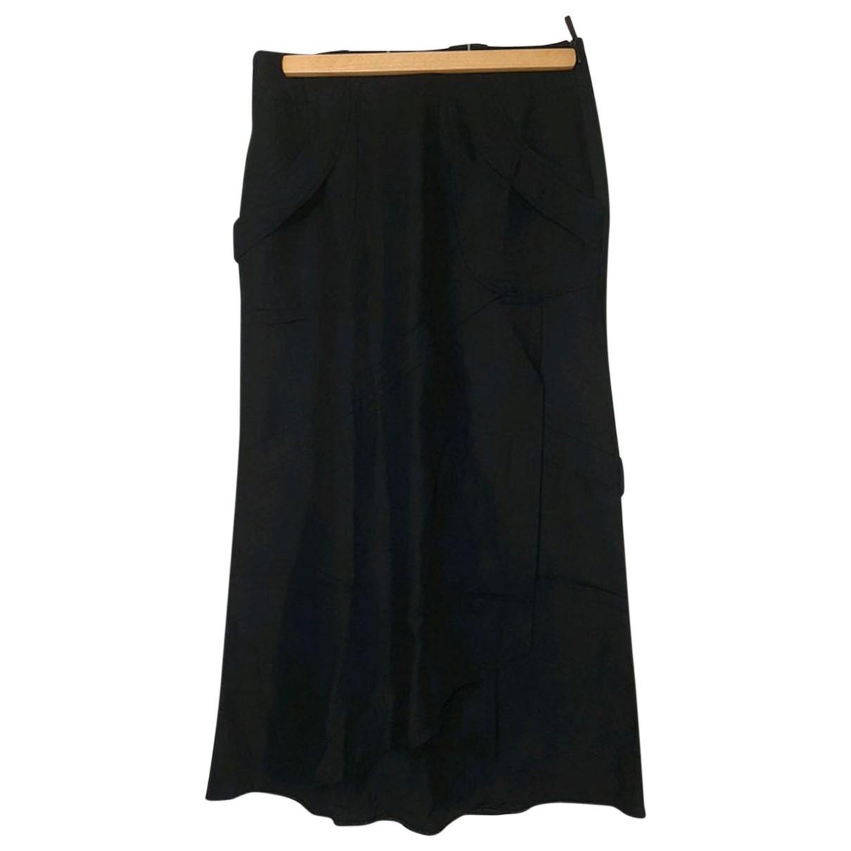 Comptoir Des Cotonniers \N Black Linen skirt for Women 36 FR