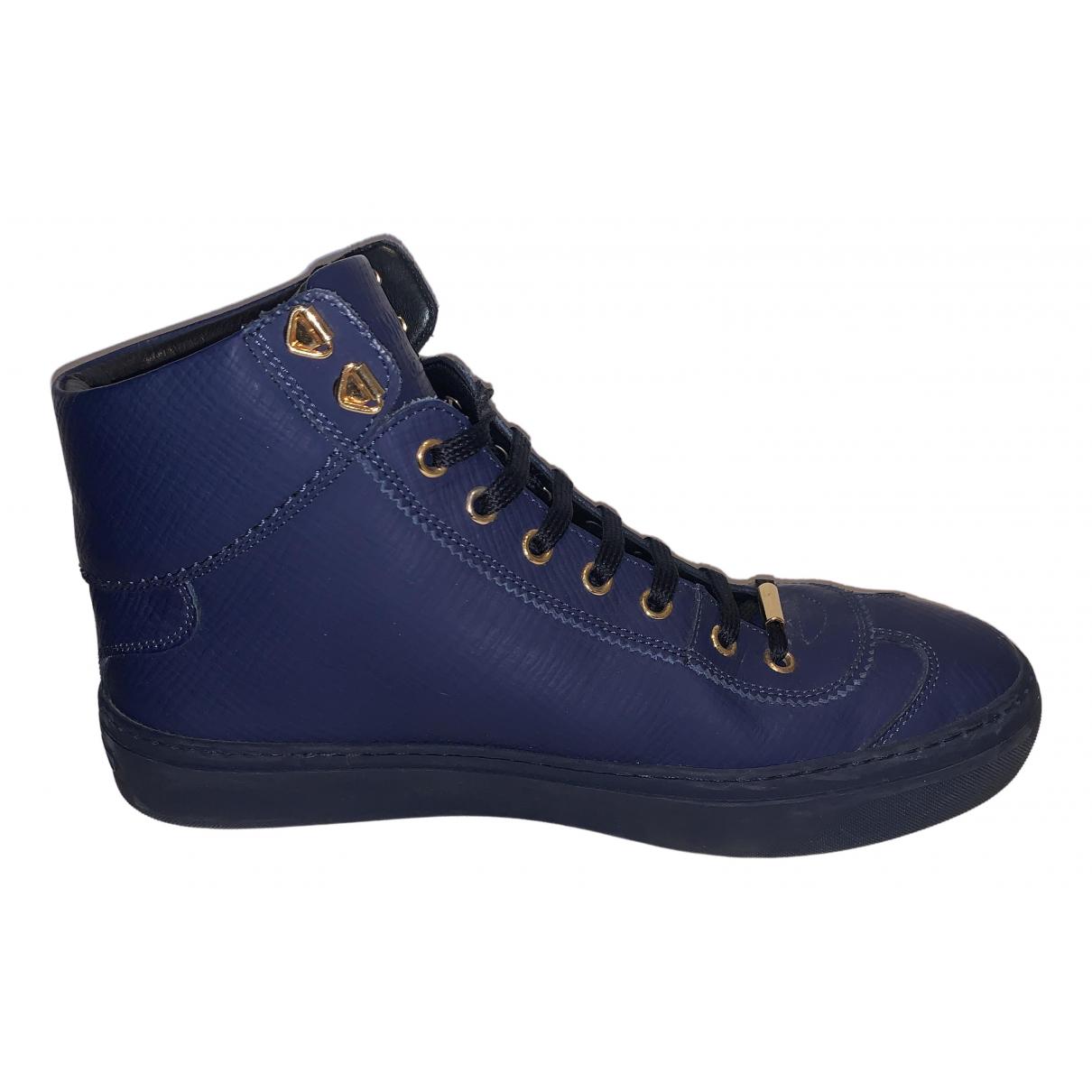 Jimmy Choo \N Sneakers in  Blau Leder