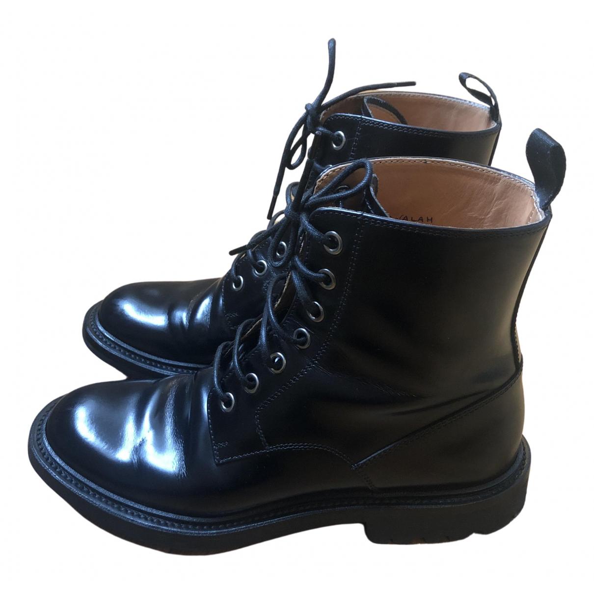 Churchs - Boots   pour femme en cuir - noir