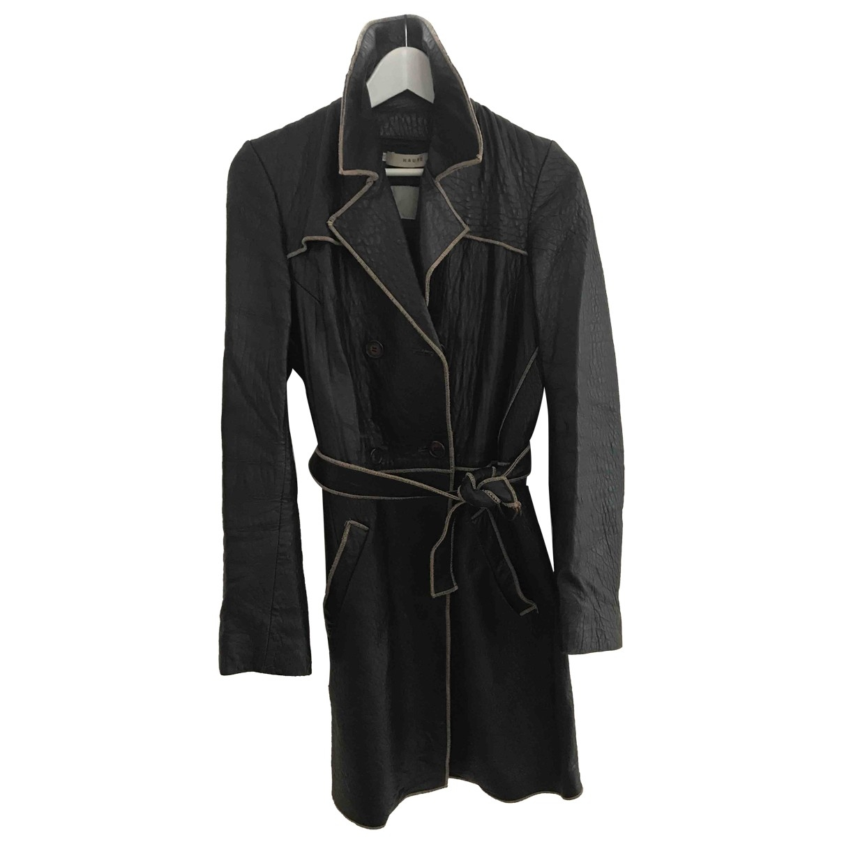 Haute Hippie \N Brown Leather Trench coat for Women 42 IT