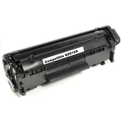 Compatible HP 12A Q2612A Black Toner Cartridge - Economical Box