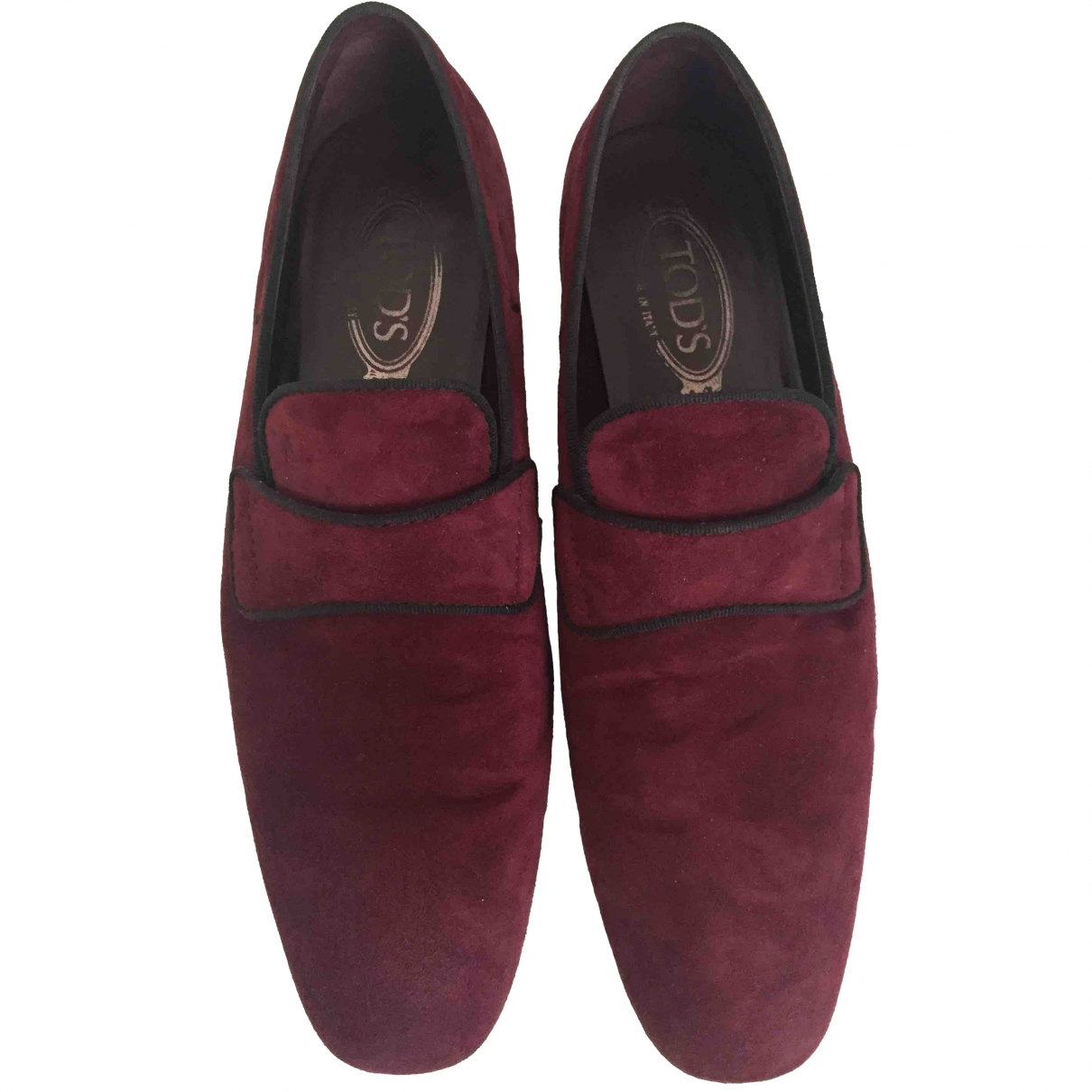 Tod's \N Burgundy Suede Flats for Men 8.5 UK
