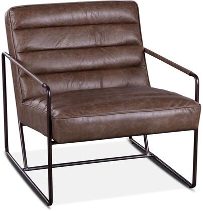 ZWPLDACLG Portlando Collection London Gray Leather Armchair with  in