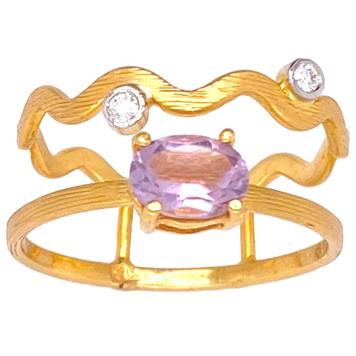 Non Signé / Unsigned \N Gold Yellow gold ring for Women 60 EU