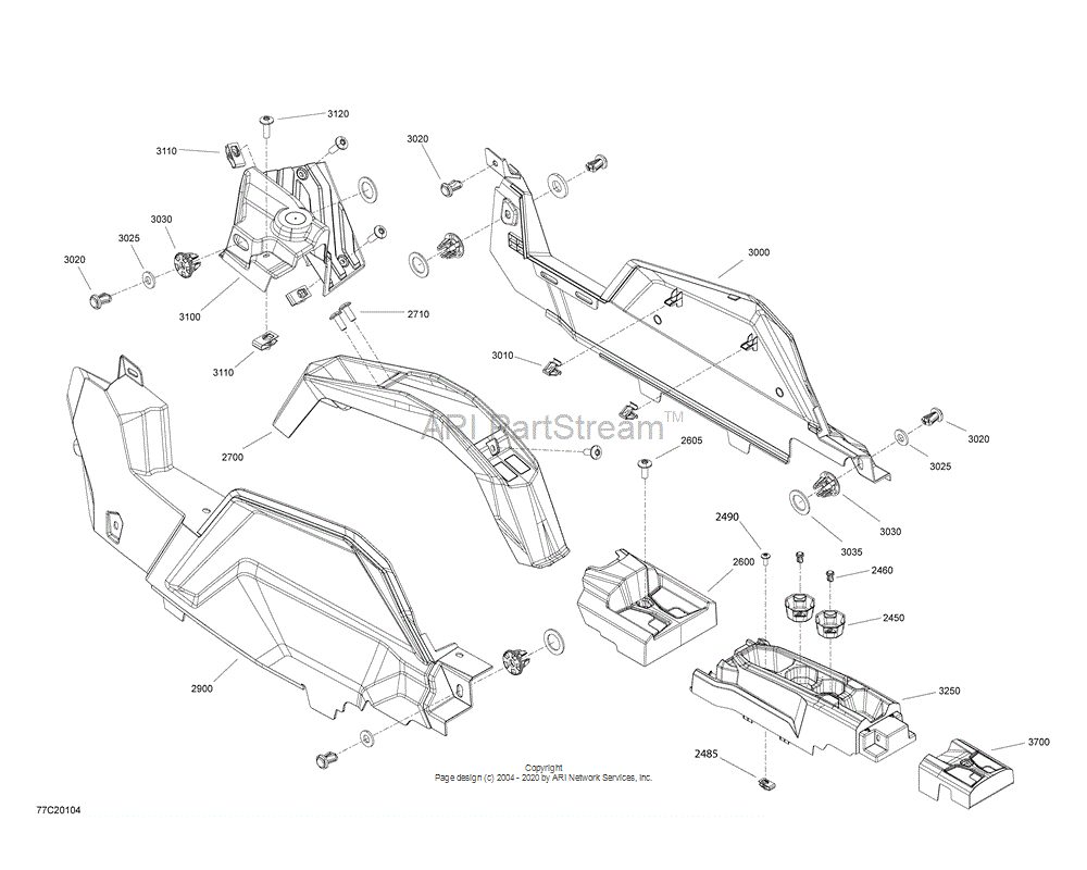 Can-AM OEM Rear Belt Cover