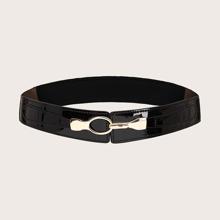Cinturon ancho con hebilla metalica