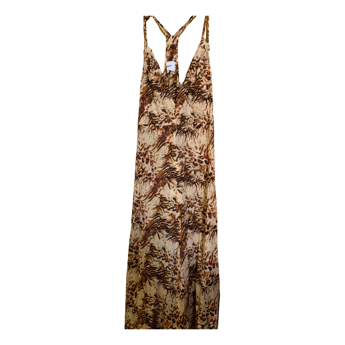 Nanushka - Robe   pour femme en lin - marron