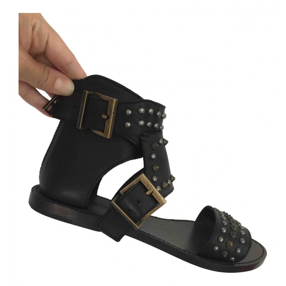 Zadig & Voltaire - Sandales   pour femme en cuir - noir