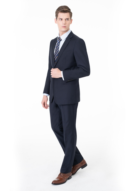 Peak Lapel Two Pieces with Pants Two Button Comfortable Casual Suits