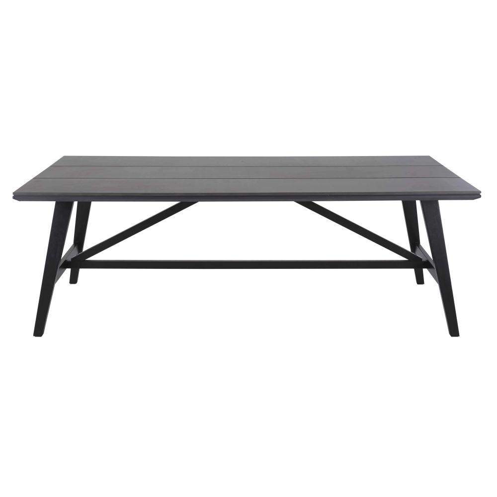 Gartentisch aus Duraboard® fuer 6/8 Personen, dunkelgrau L215 Vador