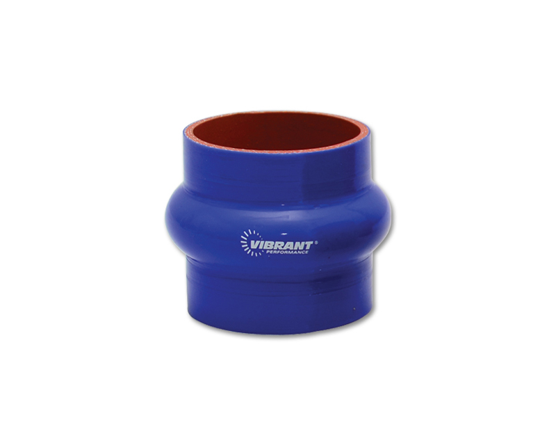 Vibrant Performance 2730B Gloss Blue 4 Ply Aramid Reinforced Silicone Hump Coupler 2