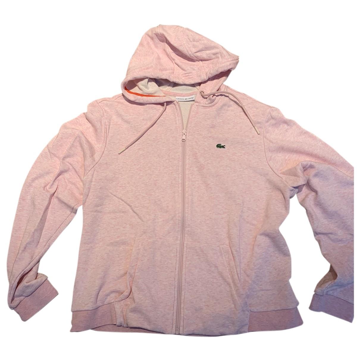 Lacoste - Veste   pour femme en coton - rose