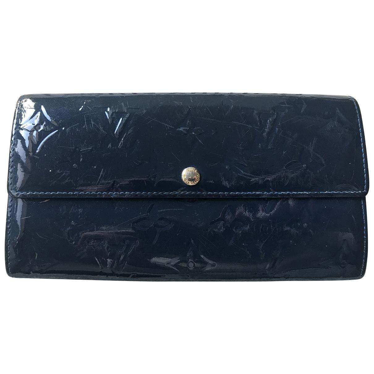 Louis Vuitton - Portefeuille Virtuose pour femme en cuir verni - marine