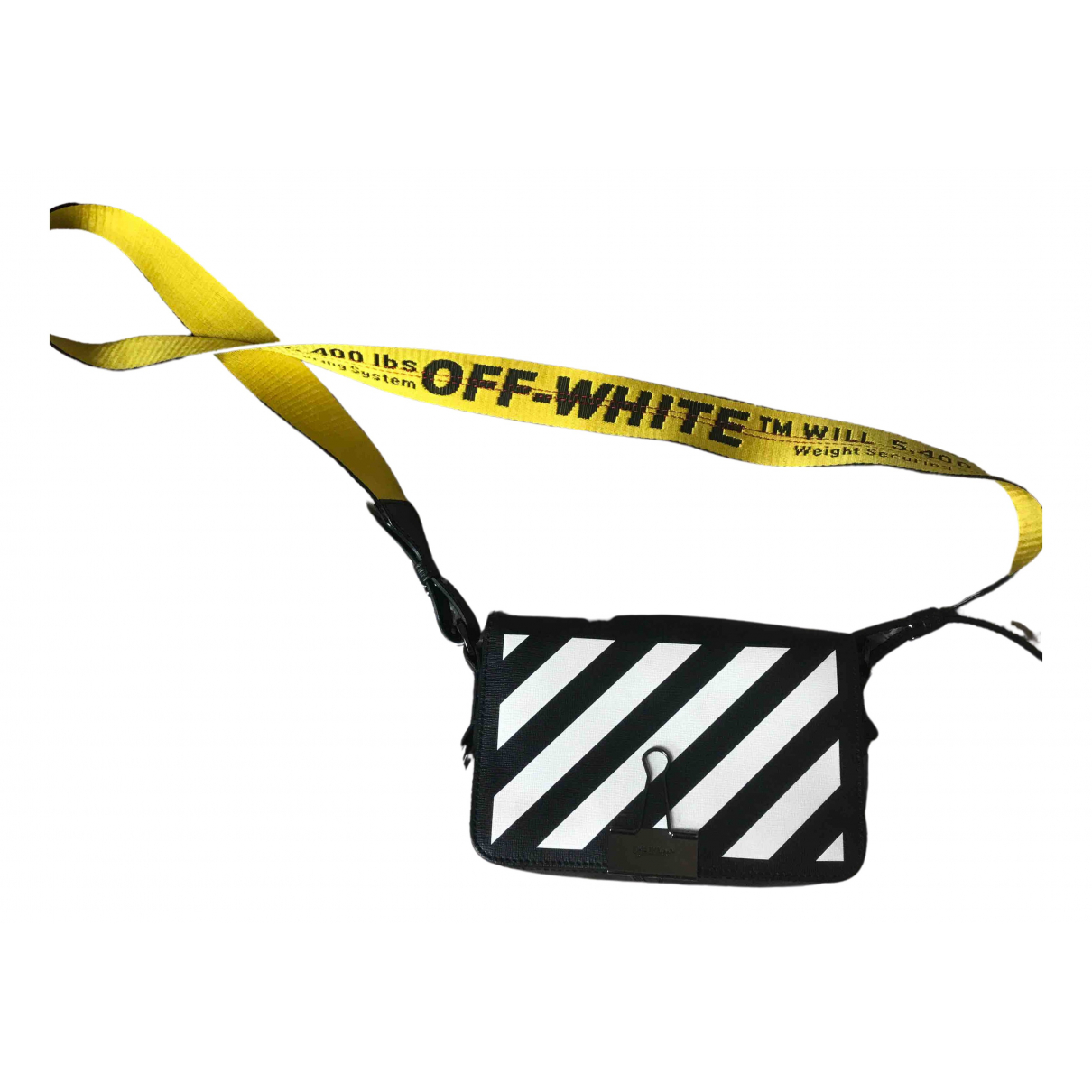 Off-white Binder Black Leather handbag for Women \N