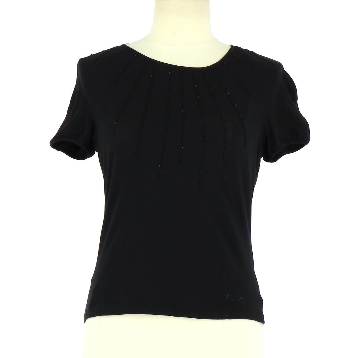 Iceberg - Top   pour femme en coton - noir