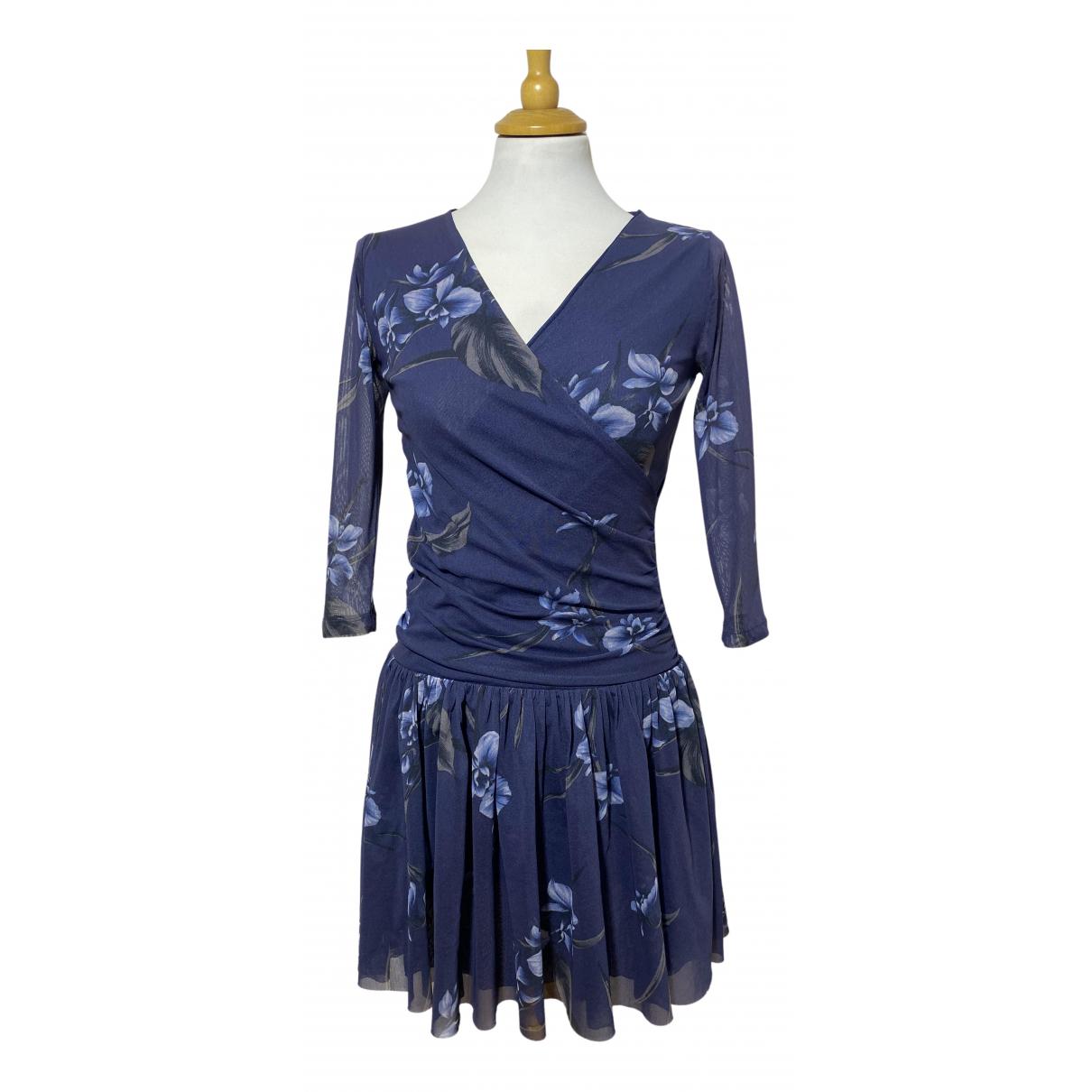 Ganni \N Kleid in  Marine Synthetik