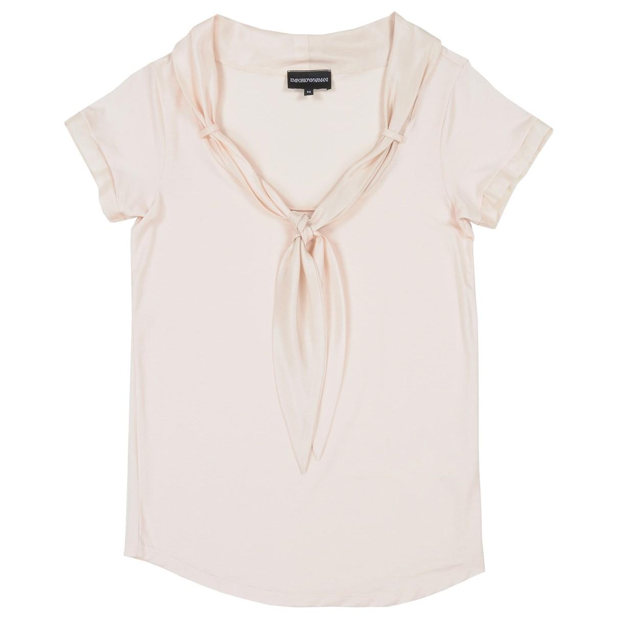 Emporio Armani - Top   pour femme en soie - rose