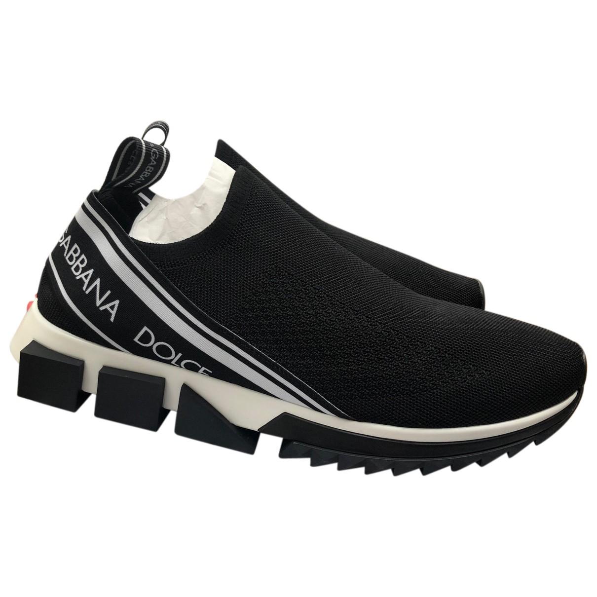 Dolce & Gabbana Sorrento Black Cloth Trainers for Men 41 EU