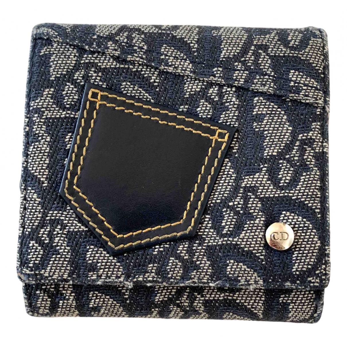 Dior - Portefeuille   pour femme en toile - marine