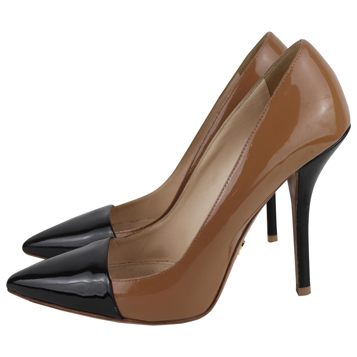 Prada \N Camel Patent leather Heels for Women 39 EU