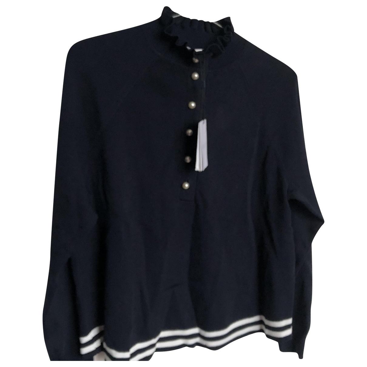 Claudie Pierlot \N Navy Cotton Knitwear for Women 36 FR