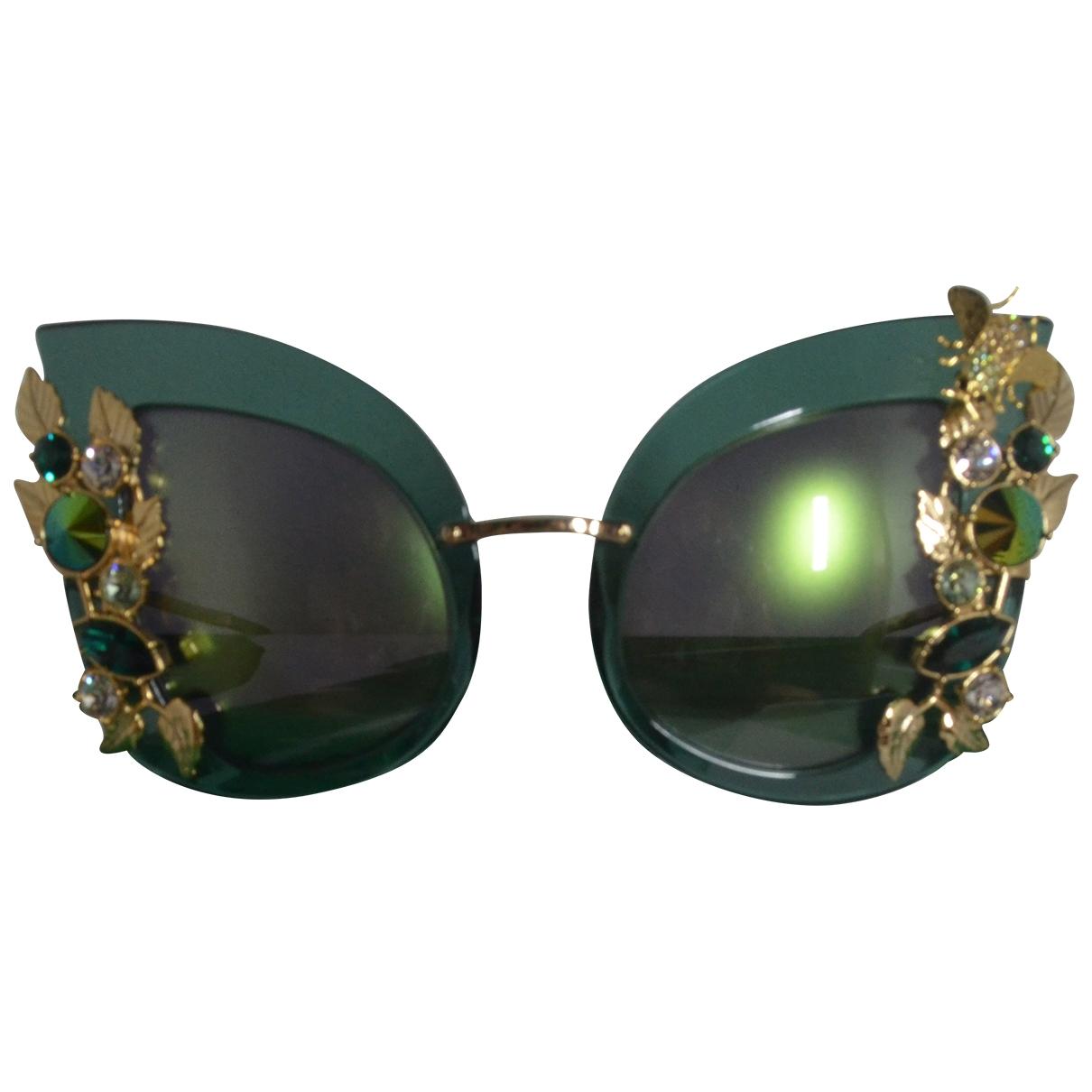 Dolce & Gabbana - Lunettes   pour femme en metal - vert