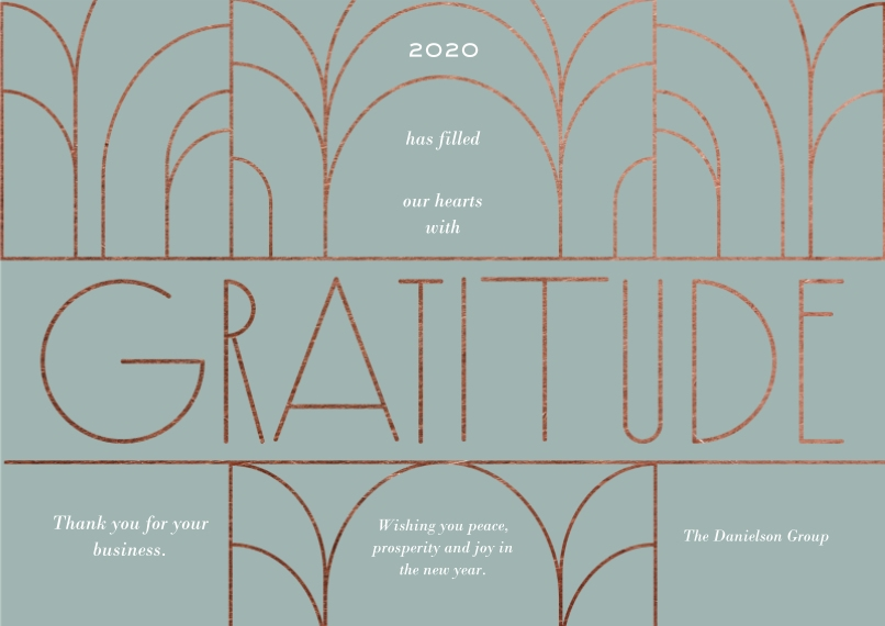 Thank you Flat Business Greeting Cards, Business Printing -Grateful Business