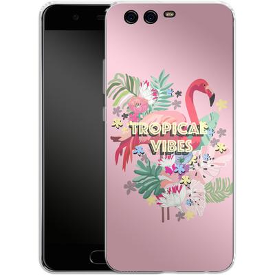 Huawei P10 Silikon Handyhuelle - Flamingo Solo von Mukta Lata Barua