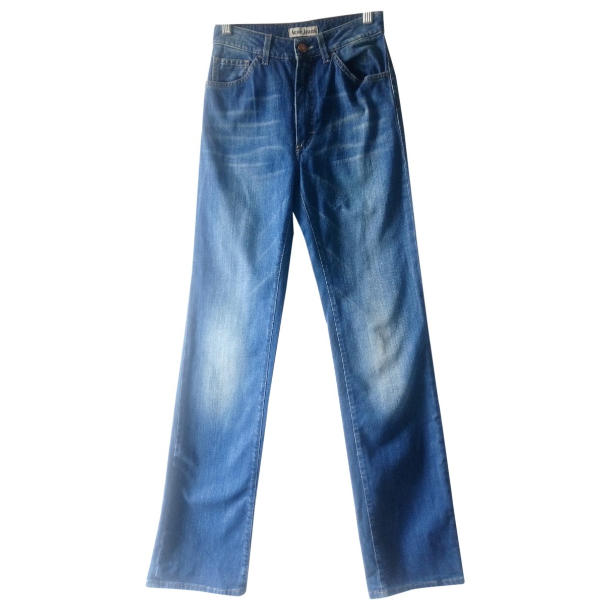 Acne Studios \N Blue Cotton Jeans for Women 36 FR